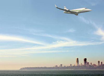 Falcon 2000S en route to Bangalore/ Aero India 2013