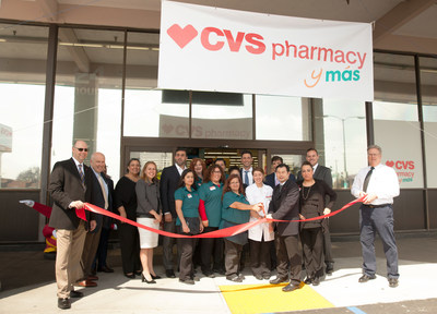 Spanish-CVS Pharmacy y mas celebra gran apertura en el area de Los Angeles con ceremonia en su tienda ubicada en 7101 Atlantic Avenue in Bell, CA.
