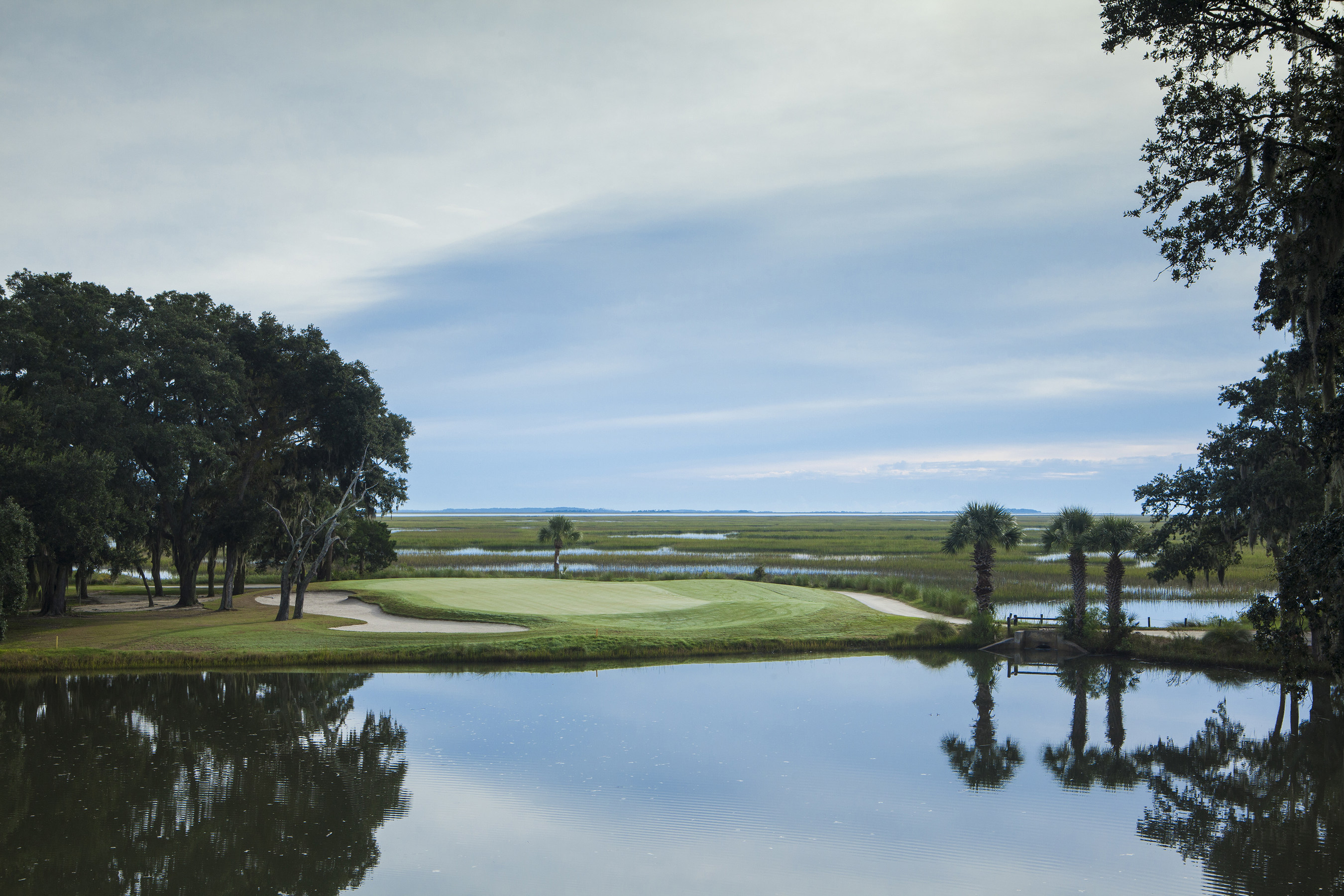 A view of Marshwood Golf Course, one of six championship golf courses at The Landings Club. Photo by Steven ...