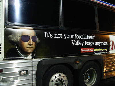 A sample transit ad created as part of a campaign to market Valley Forge and Montgomery County, Pa.  (PRNewsFoto/Valley Forge Convention & Visitors Bureau)