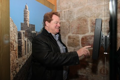 Gordon Roberson of CBN visiting Friends of Zion Museum in Jerusalem