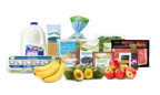 Selection of ALDI private label groceries, including fresh produce