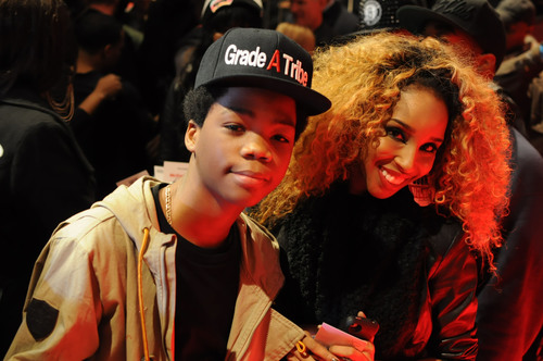 Hip-hop artist/reality TV star Astro and entertainment/celebrity blogger Necole Bitchie catch up on the red ...