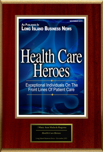 "Mary Ann Malack-Ragona Selected For ""Health Care Heroes"". (PRNewsFoto/American Registry) ..."