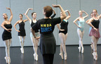 New World School of the Arts, Miami, Florida. Dance students during a ballet class.  (PRNewsFoto/New World School of the Arts)