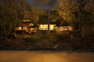Nighttime view from Isla Palenque resort in Panama.  (PRNewsFoto/The Resort at Isla Palenque)