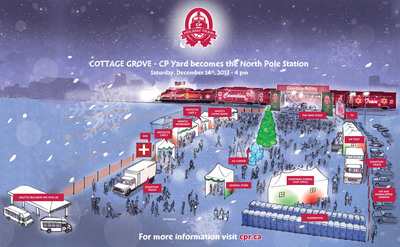 Artist rendering of Cottage Grove CP Holiday Concert site.  (PRNewsFoto/Canadian Pacific)