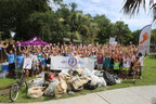 Volunteers clean Folly Beach as part of the Barefoot Wine Beach Rescue Project