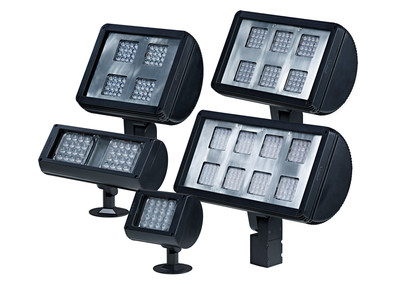 Amerlux Adds complete family of VARIETA architectural high performance LED Outdoor Floodlights to DLC Qualified Producto List (PRNewsFoto/Amerlux)