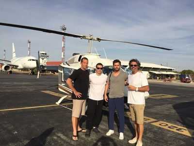 (L-R) COO at Rythmia Life Advancement Center Dr. Jeff McNairy, Jeremy Geffen, Scott Disick and Rythmia Life Advancement Center CEO Gerard Powell.