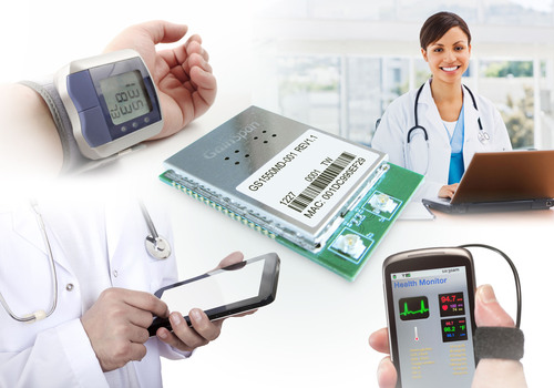 GainSpan's new GS1550M/MD dual-band 802.11a/b/g/n Wi-Fi module is ideal for healthcare facilities.  (PRNewsFoto/GainSpan Corporation)