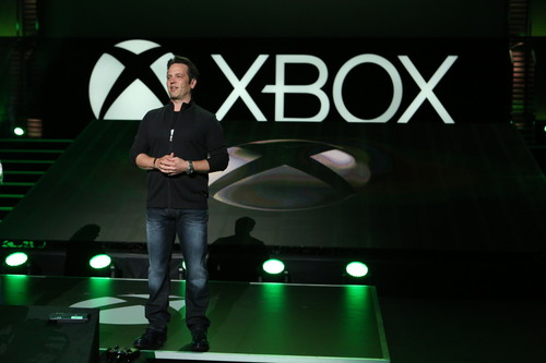 Phil Spencer, Head of Xbox, at the Xbox E3 2014 Media Briefing at the Galen Center on Monday, June 9, 2014 in ...