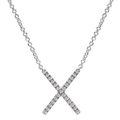 """Gabriel & Co.'s """"X"""" Necklace"""