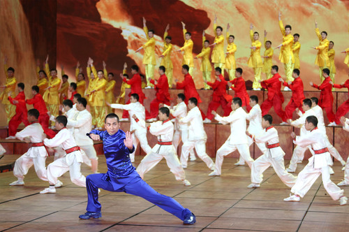 Zhao Wenzhuo appearance in Spring Festival Gala set off the China Kung Fu wave. (PRNewsFoto/Zhaowenzhuo Studio) (PRNewsFoto/ZHAOWENZHUO STUDIO)