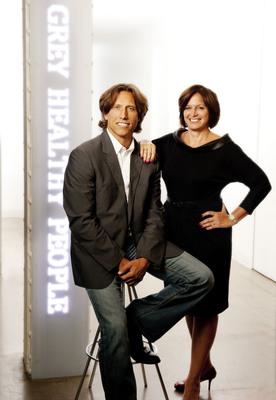 Rob Baiocco, Executive Creative Director and Maureen Maldari, President, Grey Healthy People.  (PRNewsFoto/Grey)