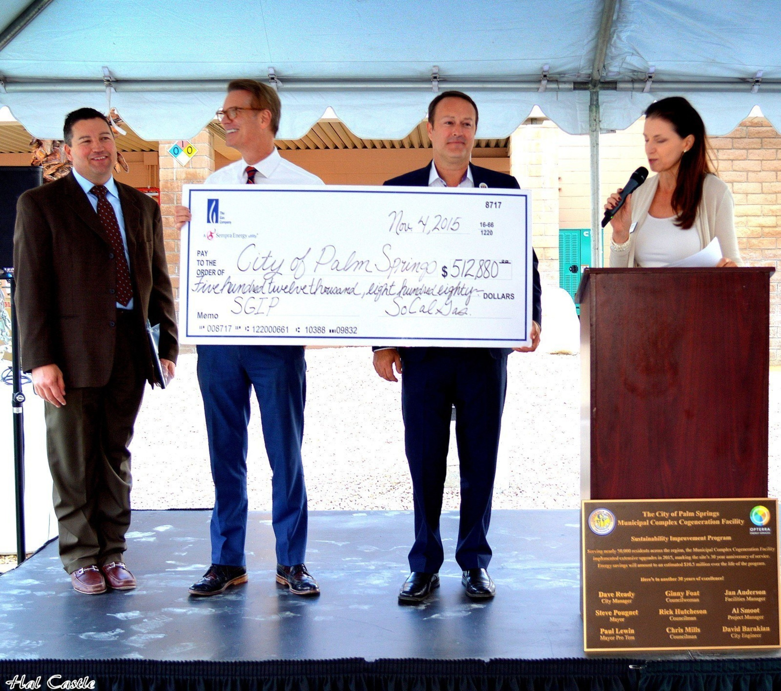 City of Palm Springs Self Generation Incentive Program Rebate from SoCal Gas
