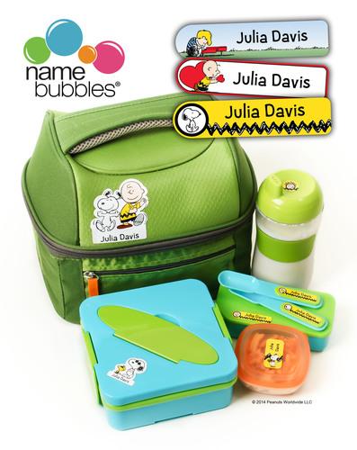 Name Bubbles Peanuts Labels. (PRNewsFoto/Name Bubbles) (PRNewsFoto/NAME BUBBLES)