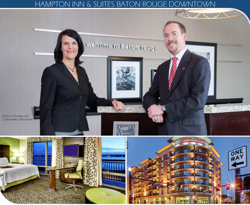 Hampton Inn & Suites Baton Rouge Downtown Top Executives: J. Benjamin Blackwell, General Manager and Allison Crump, Director of Sales.  (PRNewsFoto/Hampton Inn & Suites Baton Rouge Downtown)
