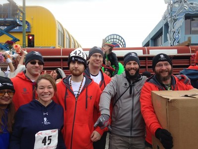 Alumni and family support members were among more than 1,300 runners at the 2016 Running of the Reindeer race.