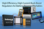 Intersil's ISL91127 and ISL91128 buck-boost regulators deliver up to 96% efficiency and the industry's lowest quiescent current for low-voltage, battery-operated systems.