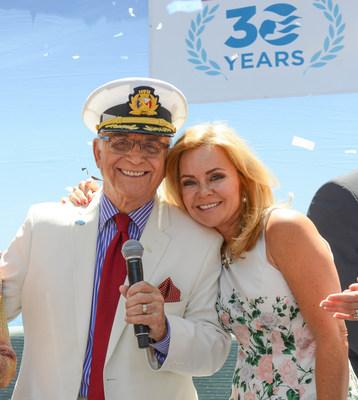 Princess Cruises Celebrations Ambassador Jill Whelan served as host at the celebration honoring Gavin MacLeod for 30 years of service at Princess Cruises corporate headquarters in Santa Clarita, Calif.