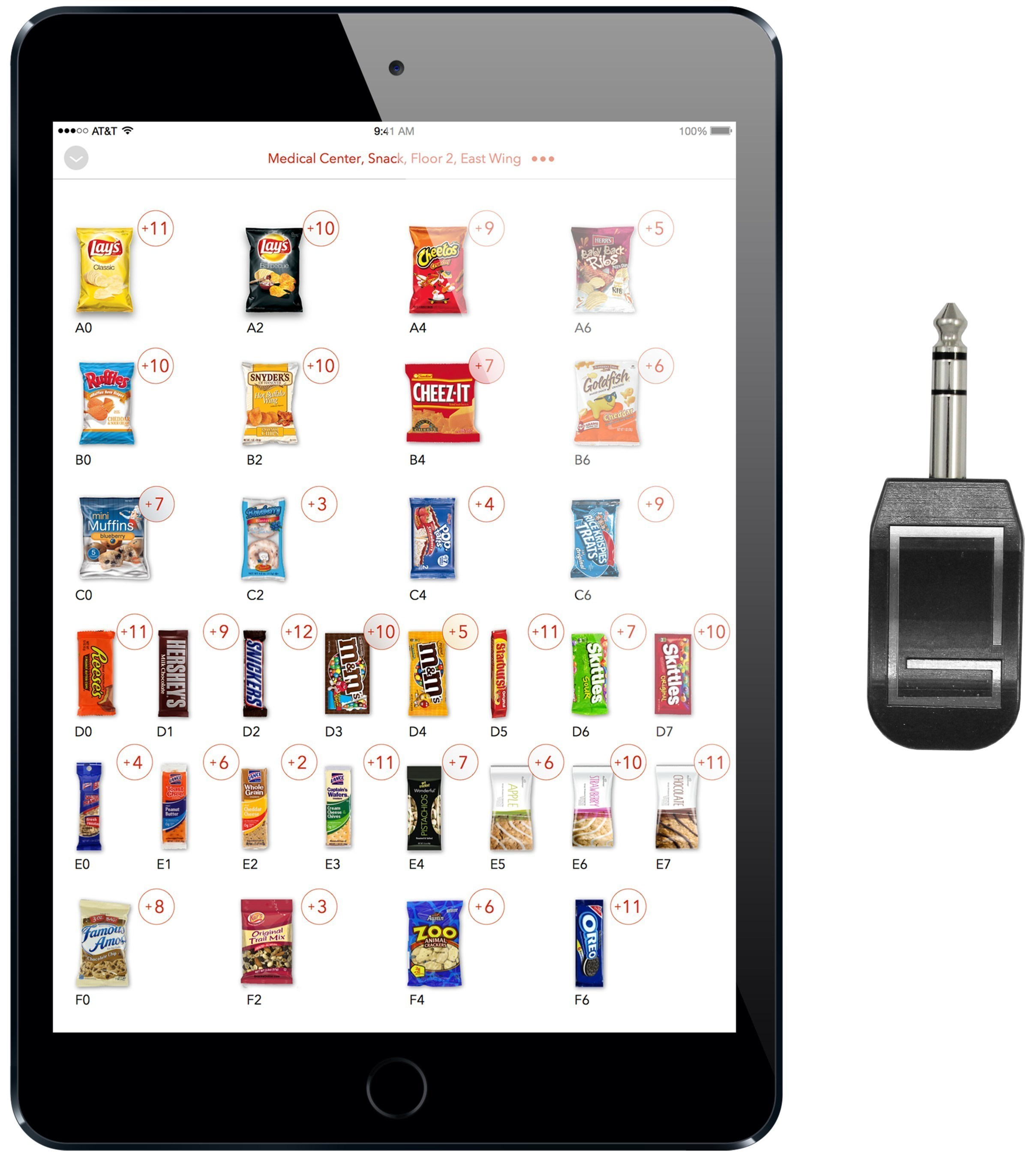 The Gimme Key and iPad-based Gimme Drive app replace current, antiquated wired handhelds and seamlessly integrate with existing vending management software programs.