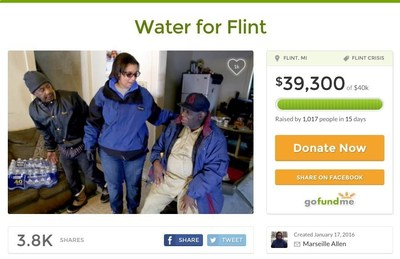 Marseille Allen's has raised over $39,000 on her GoFundMe page for Flint