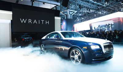 Rolls-Royce Motor Cars Debuts Wraith to New York International Auto Show.  (PRNewsFoto/Rolls-Royce Motor Cars)