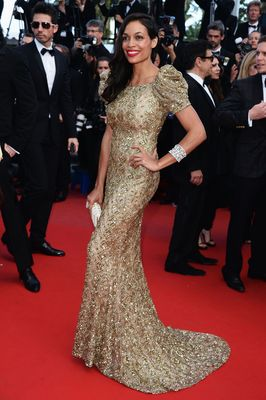 Rosario Dawson wearing AVAKIAN at the 66th Cannes Film Festival 2013