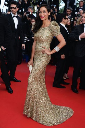 Rosario Dawson Shines on the Red Carpet Wearing Avakian at the 66th Cannes Film Festival