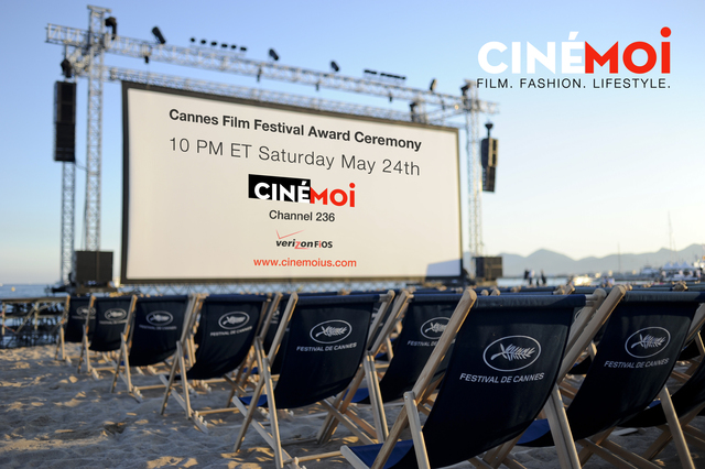 Cinemoi to air exclusive U.S. coverage of the Cannes 2014 Awards Ceremony www.cinemoius.com