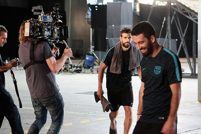 FC Barcelona's Arda Turan and Gerard Pique Star In The Latest Lassa Tyres Commercial (PRNewsFoto/Lassa Tyres) (PRNewsFoto/Lassa Tyres)