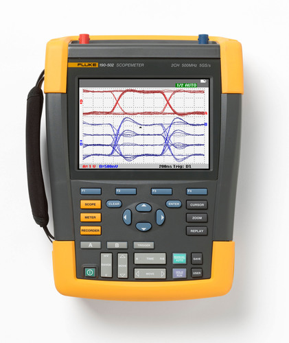 De nieuwe Fluke 190-serie II ScopeMeter®-testinstrumenten biedt de eerste handheld oscilloscopen