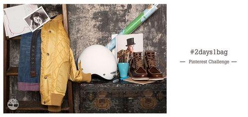 Timberland #2Days1Bag Pinterest Challenge. (PRNewsFoto/Timberland)
