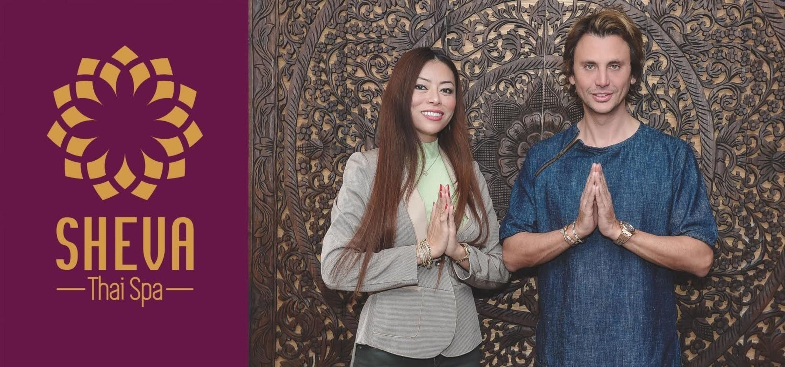 Naomi Hurvitz and Jonathan Cheban at Sheva Royal Thai Spa