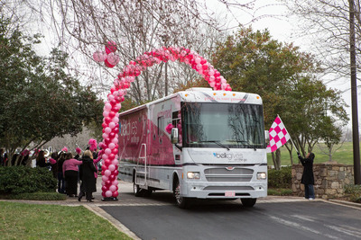 The BelkGives on the Go Mobile Mammography Center departed Monday from Belk headquarters in Charlotte, NC.