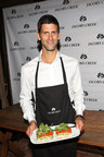 Novak Djokovic serves up a perfect match at the Jacob's Creek Our Table event on August 25 at Refinery Rooftop in New York City