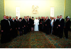 Group photo of IJCIC members and Pope Francis.  (PRNewsFoto/World Jewish Congress)