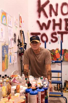 Bernie Taupin in his art studio