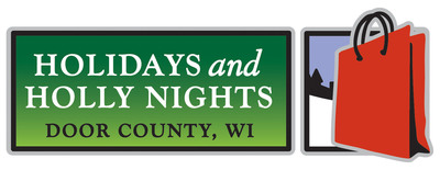 Holidays and Holly Nights Promotional Logo. Photo credit: Door County Visitor Bureau/DoorCounty.com.