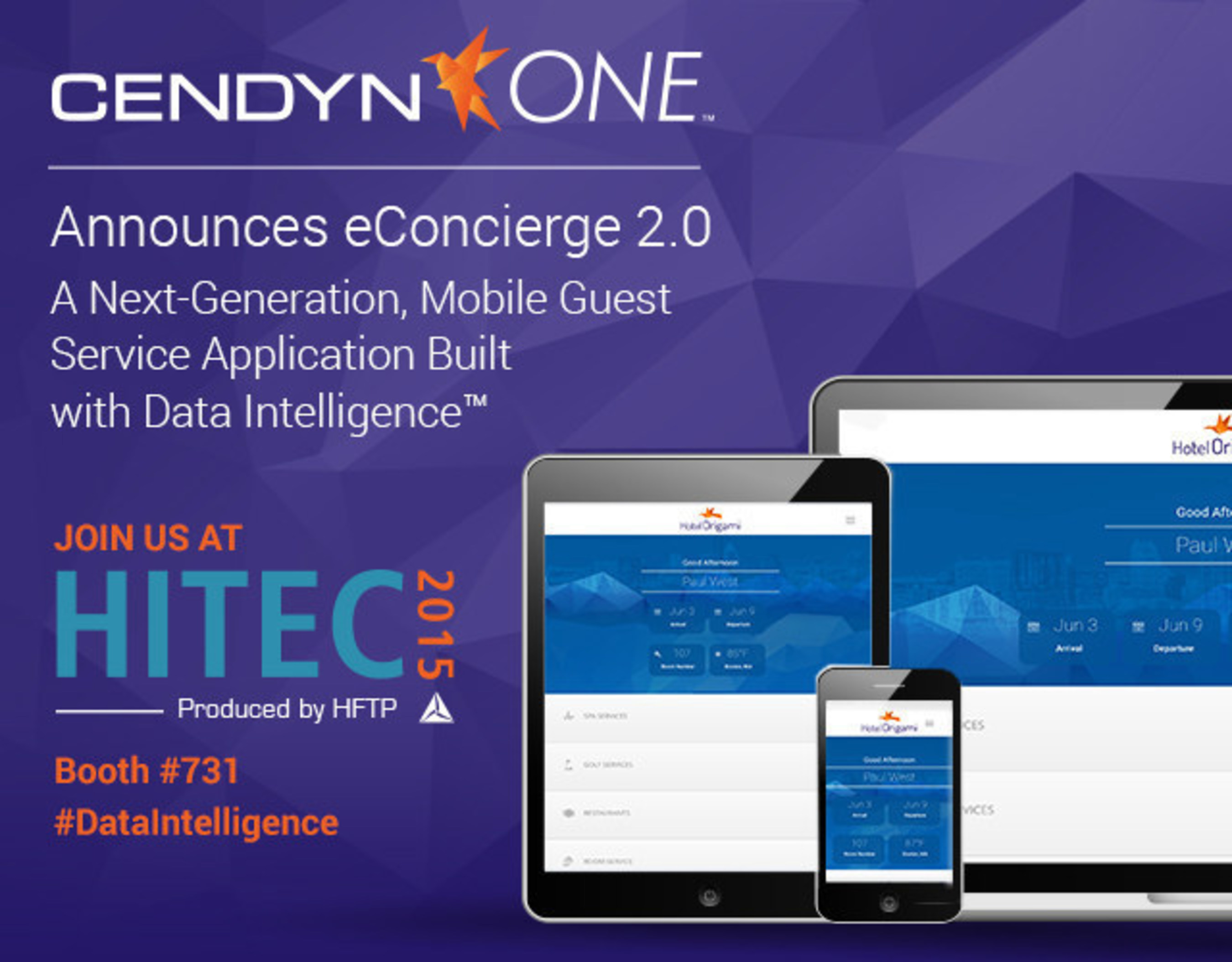 Cendyn/ONE Announces eConcierge 2.0 -- a Next-Generation, Mobile Guest Service Application built with Data Intelligence''