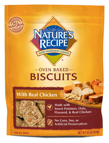 NATURE'S RECIPE VOLUNTARILY RECALLS NATURE'S RECIPE OVEN BAKED BISCUITS WITH REAL CHICKEN DUE TO ...