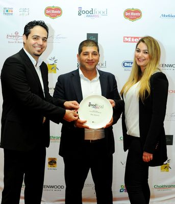 (From left to right) - Del Monte(R) Team: Souhail Khattab, Sales Director UAE; Oussama Naddy, General Manager UAE; Racha El Awar, Marketing Coordinator UAE.