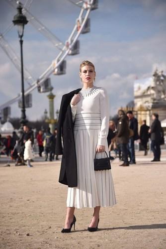 Barbara Berlusconi, CEO of AC Milan, guest at Valentino Fashion Show in Paris. (PRNewsFoto/A.C. Milan Spa) (PRNewsFoto/A.C. Milan Spa)