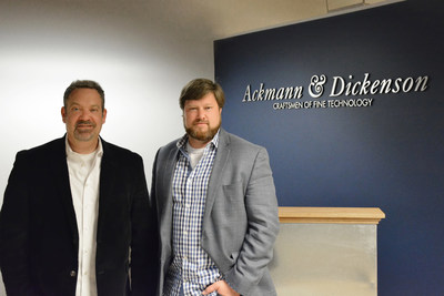 Mike Ackmann, left, and Andrew Dickenson, right.