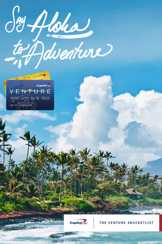 The Capital One Venture Card is working to get people talking about their travel goals so they can make their ...