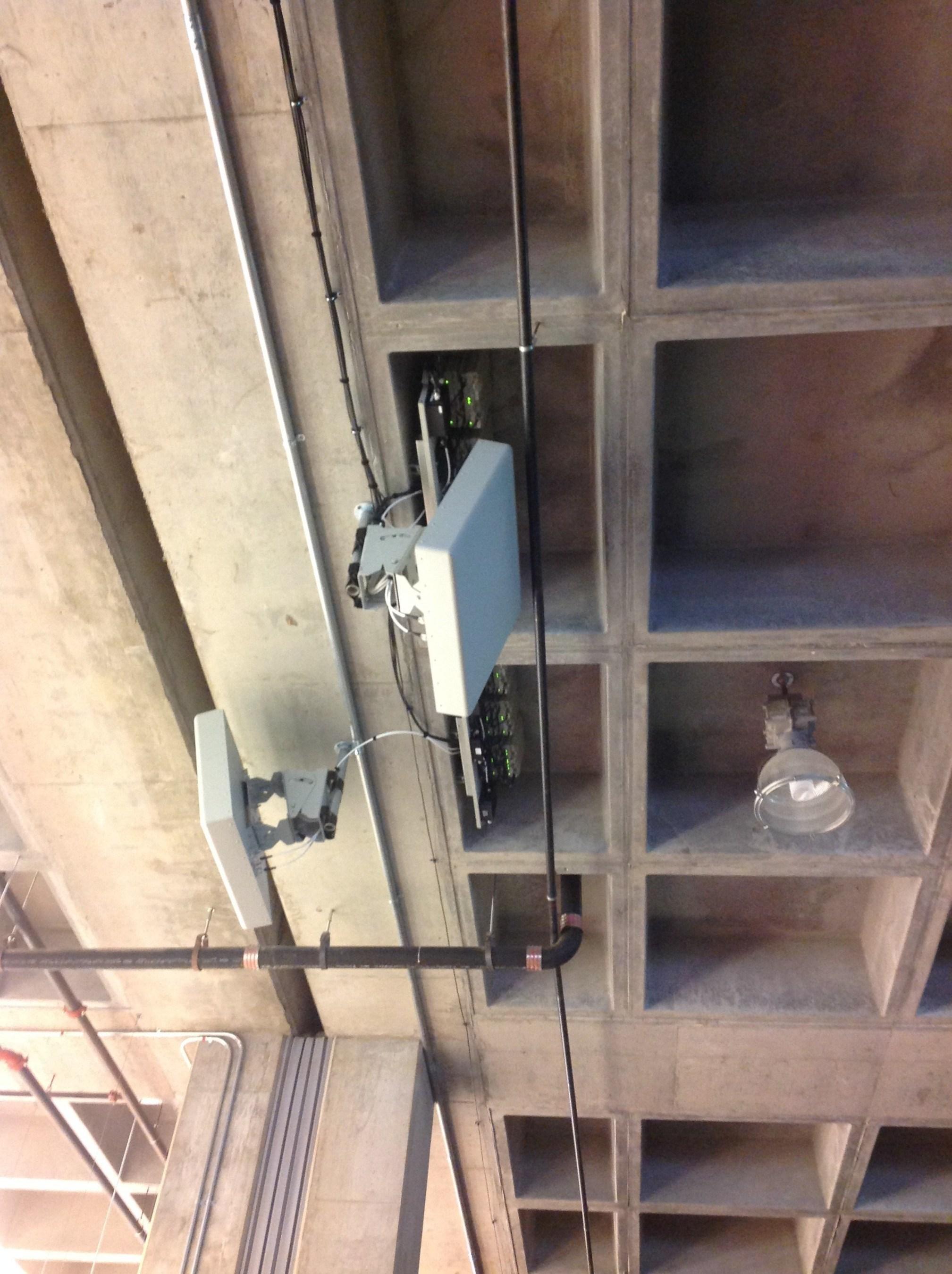 Indoor DAS antennas in a stadium installation
