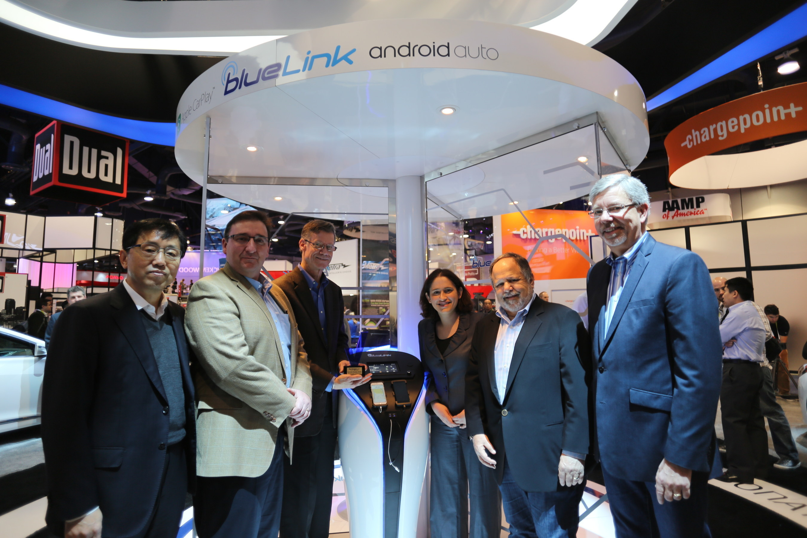 Reviewed.com/ USA TODAY Executives Present CES Editors' Choice Award for Hyundai Display Auto on January 7, 2015 in Las Vegas.