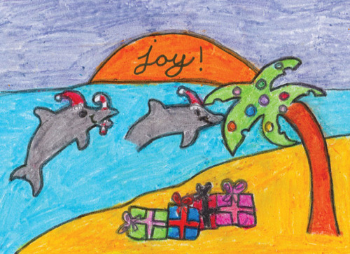 2012 Holiday Cards Designed by Pediatric Patients at St. Joseph's Children's Hospital.  (PRNewsFoto/BayCare Health System)