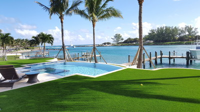Artificial grass installation by Turf Concepts.